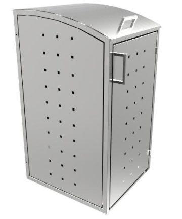 Mülltonnenbox Alice Inox Seite